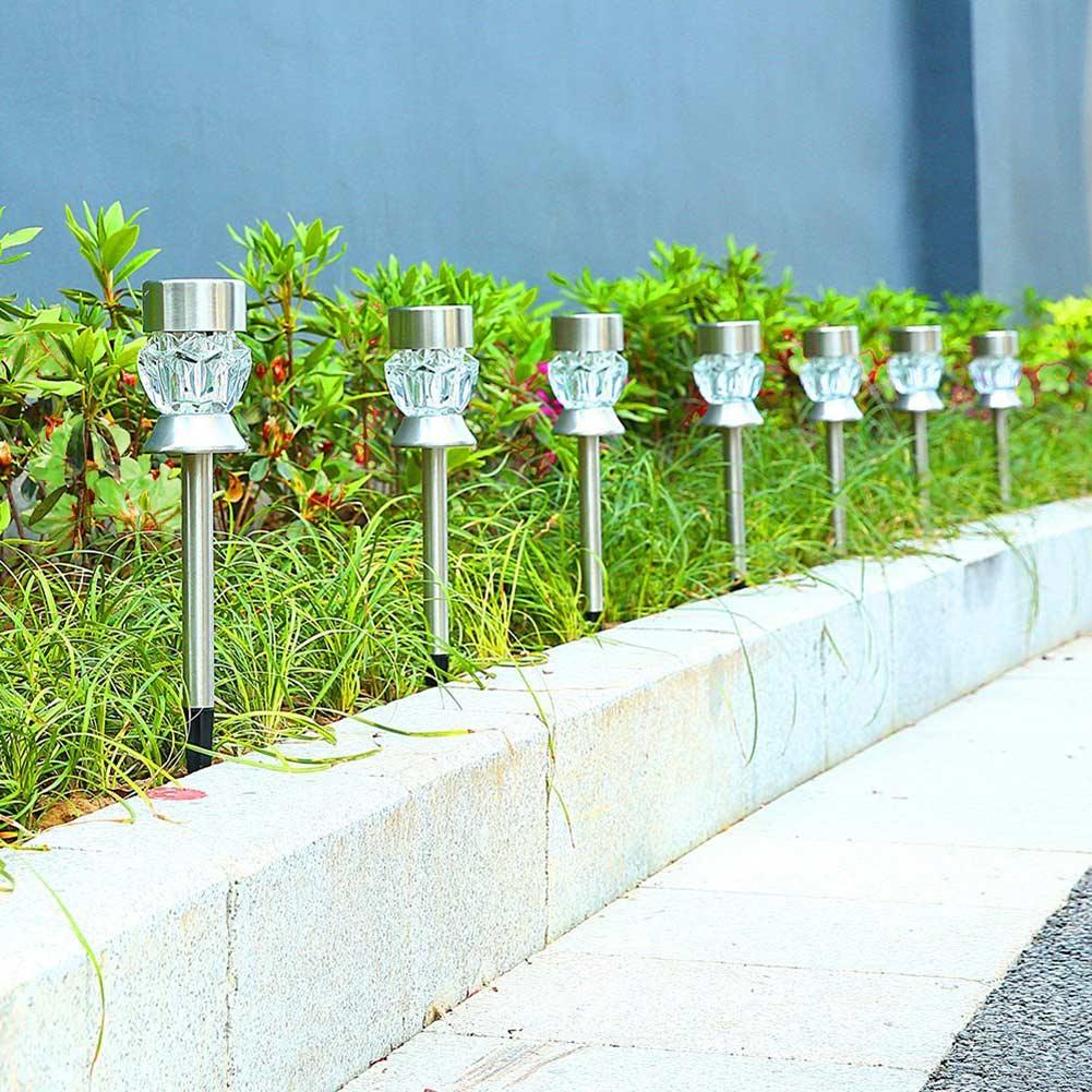 4pcs Outdoor Solar Lights LED Lamps for Landscape Lighting Garden Pathway Patio Walkway Yard @8 WWO66