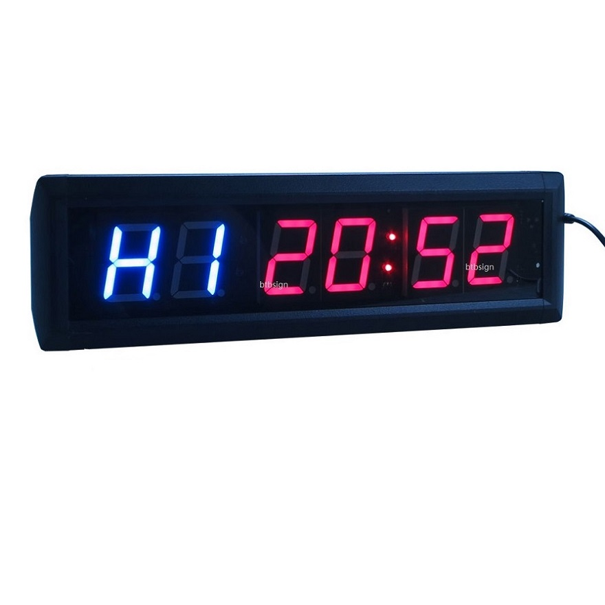 1 8 6digit Led Interval Clock Multifunctional Crossfit