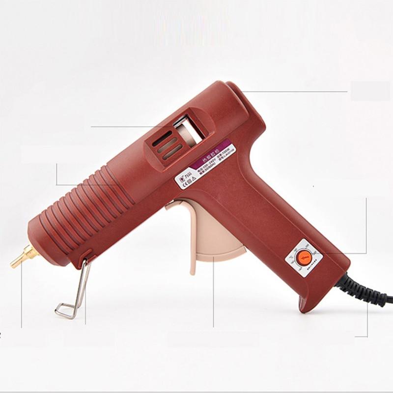 Dual Power 60W//100W Professional Electric Heating Hot Melt Glue Gun US//EU Plug