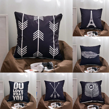 New Letter Love Home Cushion covers Suede Black White pillow cover Sofa bed Nordic decorative pillow case almofadas 45x45cm недорого