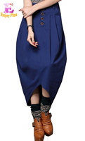 Waist 65 75cm High Quality S M L New Brand Autumn 2016 Blue Black Long Skirt