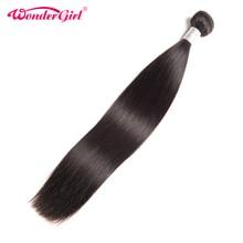 Wonder girl Malaysian Straight Hair Bundles 100 Remy Human Hair Bundles 10 28inch Natural Color 1