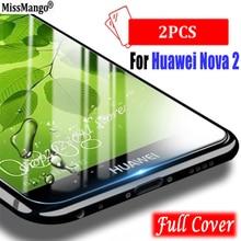 """2 יח\חבילה, עבור Huawei נובה 2 Nova2 זכוכית מזג עבור Huawei נובה 2 5.0 """"מסך מגן סרט משמר 3D מלא כיסוי מזג זכוכית"""