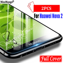 """2 stks/partij, voor Huawei Nova 2 Nova2 glas gehard Voor Huawei Nova 2 5.0 """"screen protector film Guard 3D volledige cover gehard glas"""
