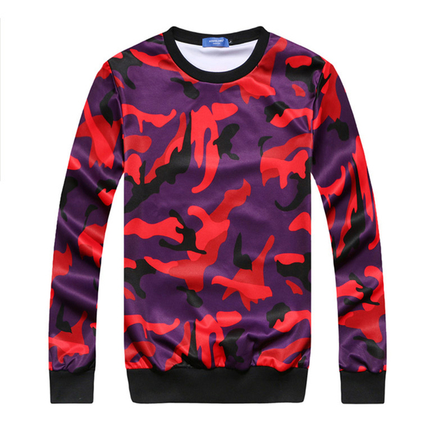 Red Men Men Camo Sweat a Hoodie Sweatshirt Shipping Bape Long Mens Free 2015 neck Capuche Autumn O New Sleeves Tracksuit XSqWOEp