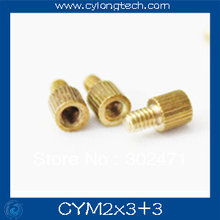 Free shipping M2*3+3mm  cctv camera isolation column 100pcs/lot Monitoring Copper Cylinder Round Screw