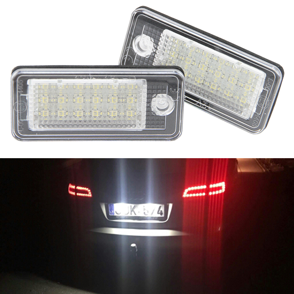 2PCS high quality Led number plate light,A3 Cabriolet,A4,S4,A6,C6,RS4,Avant quattro,RS6 Plus,A8,Q7, car led license plate lamp
