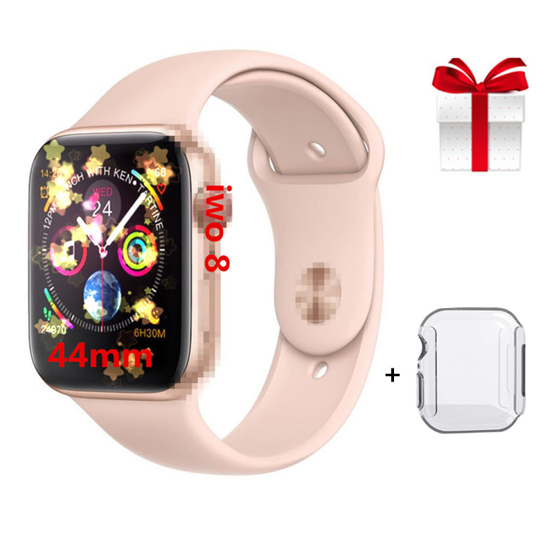 2019 Bluetooth Smart Watch Series 4 SmartWatch for Apple iOS iPhone Xiaomi Android Red button Gold