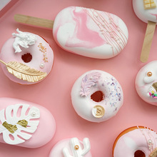 Artificial ice cream cake simulation donut toy window decoration fake snack ice cream ins wind donut Exquisite Gift for Girl