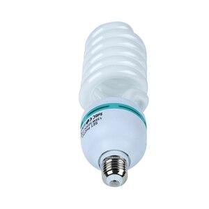 Image 2 - Bombilla fluorescente de luz diurna para fotografía, Base E27, 135 K, 4x5500 W, para Softbox, sesión fotográfica