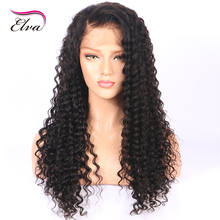 Water Wave Lace Front Human Hair Wigs For Black Women Pre Plucked Natural Hairline With Baby Hair Bleached Knots Elva Remy Hair