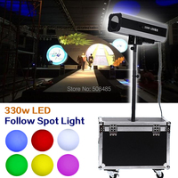 Power 330w LED Follow Spot Light With Flight Case For Wedding/Theater Performance/party