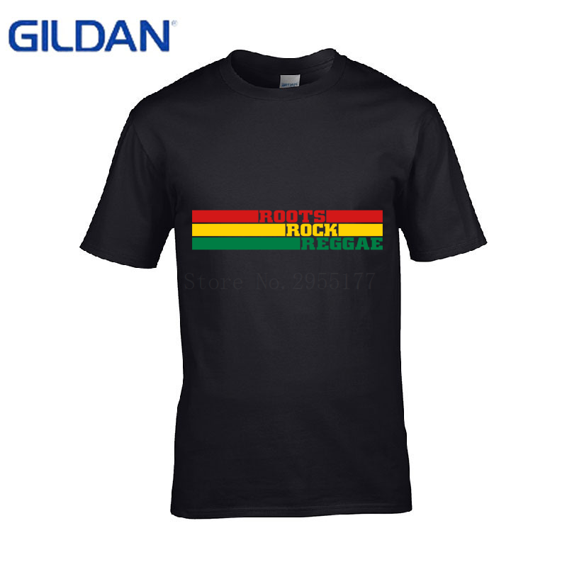 New Arrival Funny New t shirts Roots Rock Reggae Summer Style men t-shirts round Neck men tshirts Tee Top Футболка