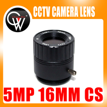 5PCS HD 5.0MP IR CCTV Lens 16mm CS Lens 5MP for HD Security Cameras F2.0 Image Format 1/2″ Free Shipping
