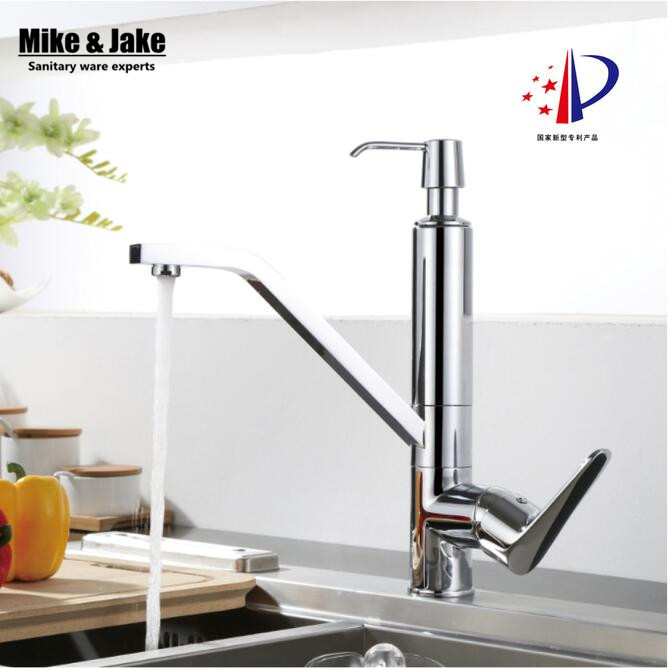 Kitchen faucet with soap dispenser chorme faucet basin crane 2 in 1 sink soap dispenser tap soap faucet water mixer