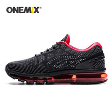 ONEMIX Men Air Running Shoes Unique Tongue Design Breathable Cushion Sport Shoes Big Size 47 Outdoor Sneakers Women Tennis Shoes(China)