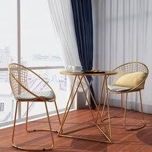 Металлический стальной стул для отдыха, стул из железной проволоки с открытой спинкой, золотой черный обеденный кофейный металлический барный стул, мебель для гостиной