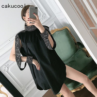Cakucool New Bling Runway Design Blouse Women Diamond Beading Off Shoulder Korea Loose Sexy Evening Party Long Blusa Shirt Femme