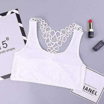 ab0b4854e Sujetador de algodón para niñas adolescentes ropa interior de la pubertad  niñas pequeñas sujetadores niños adolescentes