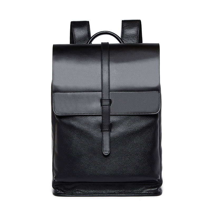 ФОТО Leather Men Backpack Large Capacity Men Travel Bag Bag Laptop Backpack Noble Atmosphere New High Quality BB0089