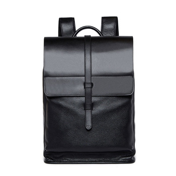 Leather Men Backpack Large Capacity Men Travel Bag Bag Laptop Backpack Noble Atmosphere New High Quality BY0089