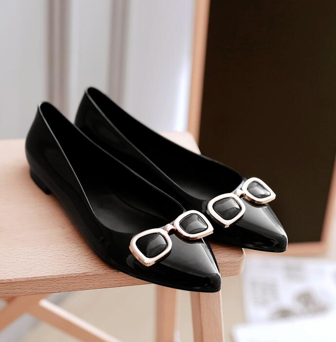afbe2504155 woman crystal jelly transparent shoes lady flat rain sandals women student  summer travel beach sandal pointed toe 36 41 glasses-in Women s Sandals  from ...