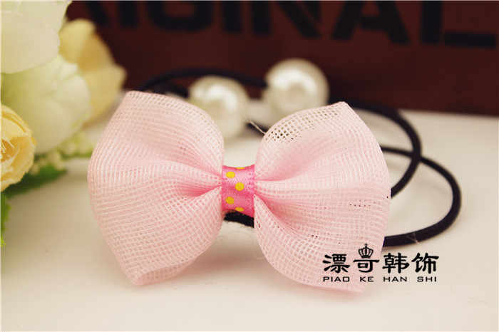 2pcs/set Baby Girls Hair Accessories Elastic Rubber Bands  Girl's Headwear Bow tie knot rope pearl hair rope head flower buckets