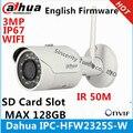 Dahua 3mp ipc-hfw2325s-w ir50m ip67 wi-fi embutido sd slot para cartão de rede câmera ip wi-fi ao ar livre câmera substituir ipc-hfw1320s-w