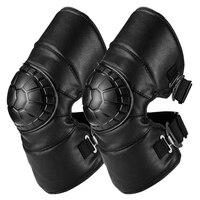 Защитные наколенники для езды на мотоцикле мотоциклетные наколенники для мотокросса наколенники Скоба защита из искусственной кожи униве...