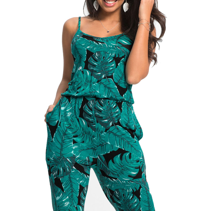 Sexy Sleeveless Long Romper Womens Jumpsuit 2020 Summer Women Floral Trousers Pants Beach Jumpsuit Coveralls Female Frock S-2XL