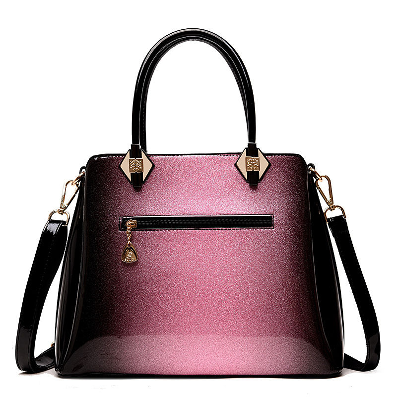2019 new luxury shoulder women leather handbag designer high quality patent leather messenger bag ladies red wedding package box in Top Handle Bags from Luggage Bags