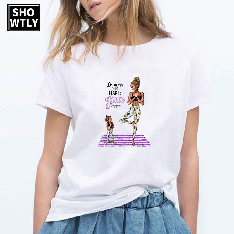 Женская футболка оверсайз Showtly Super Mama, корейская модная уличная одежда, лето 2019