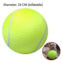 1 pc diametro 24 centimetri Palla Da Tennis All'aperto Gigante Giocattolo Dell'animale Domestico Giocattolo Per Bambini di Sfera Per Animali Da Compagnia Rifornimenti di Addestramento del Cane palla Sport Outdoor Giocattolo Coperta