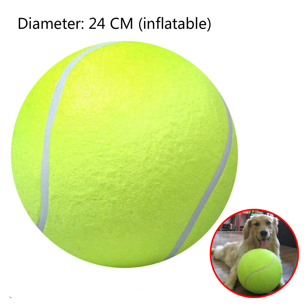 1pc Diameter 24cm Outdoor Tennis Ball Giant Pet Toy Kids Toy Ball For Pet Dog's Supplies Training Ball Outdoor Sports Indoor Toy