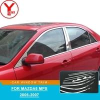 Edelstahl auto fenster trim streifen Für mazda6 MPS 2006 2007 trim molding Für mazda6 MPS 2006 2007 teile zubehör YCSUNZ-in Chrom-Styling aus Kraftfahrzeuge und Motorräder bei