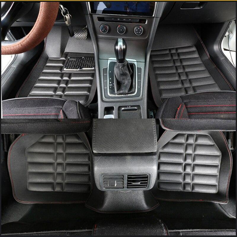 Universal car floor mats for Volkswagen touareg passat golf touran tiguan vw polo sedan car mats