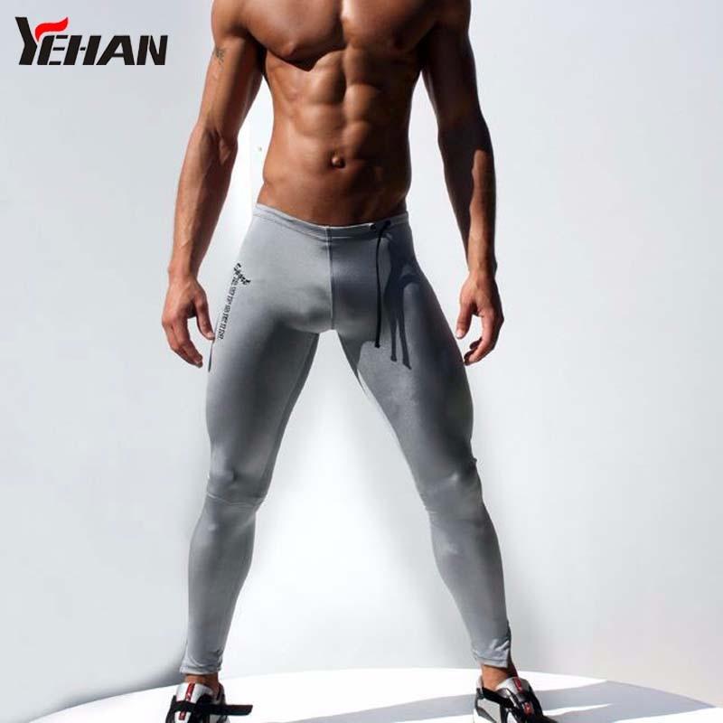 Для мужчин бегуном Пант брюки сжатия эластичные джоггеры низкой посадкой Йога Pantalon подножка тренировочные брюки сжатия Pantalon Спорт Homme