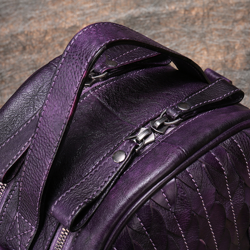 Round Bags Women's Handbag 2019 Retro Genuine Leather Lady Shoulder Bag Soft Cow Skin Leather Handmade Casual Messenger Bag