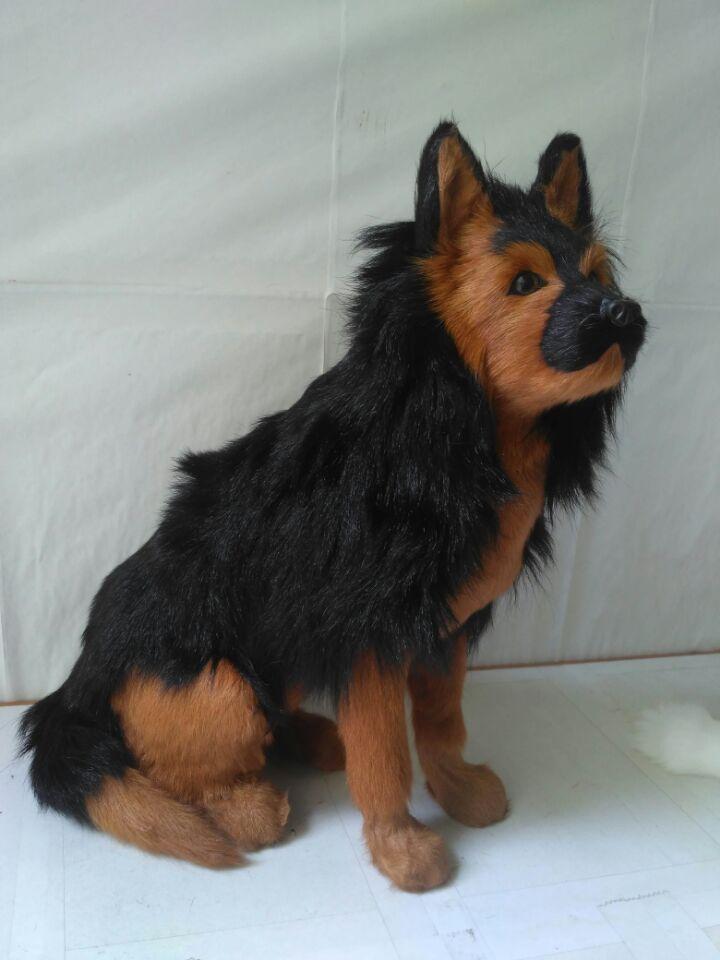 big simulation wolfhound model polyethylene&furs sitting dog doll gift about 28x15x37cm 1282 new simulation sleeping dog plastic&fur black&white dog model gift about 36x25x14cm a81