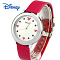 100% Genuine Disney Leather Belt Ultra-thin Women Watches Female Girl's Waterproof Fashion Quartz Watches for Lady