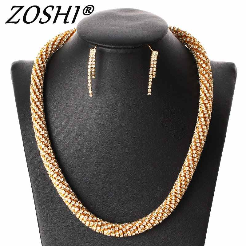 Luxury Nigerian Dubai Gold African Beads Women Wedding Jewelry Sets Wholesale Big Chunky Necklace Earrings Bridal Jewelry Set