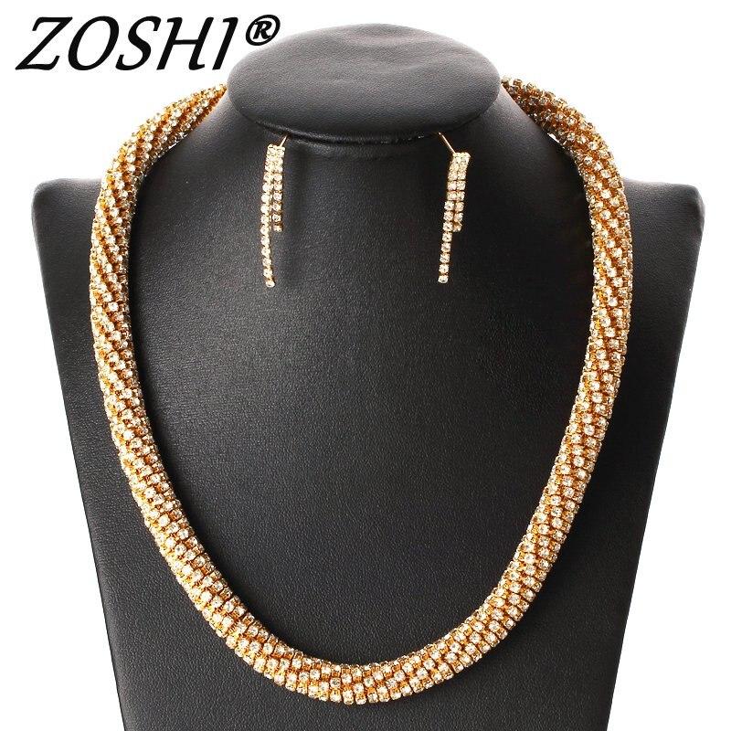 2018 Bridal Gift Nigerian Wedding African Beads Jewelry Set Brand Woman Fashion Dubai Gold Silver Jewelry Set Wholesale Design