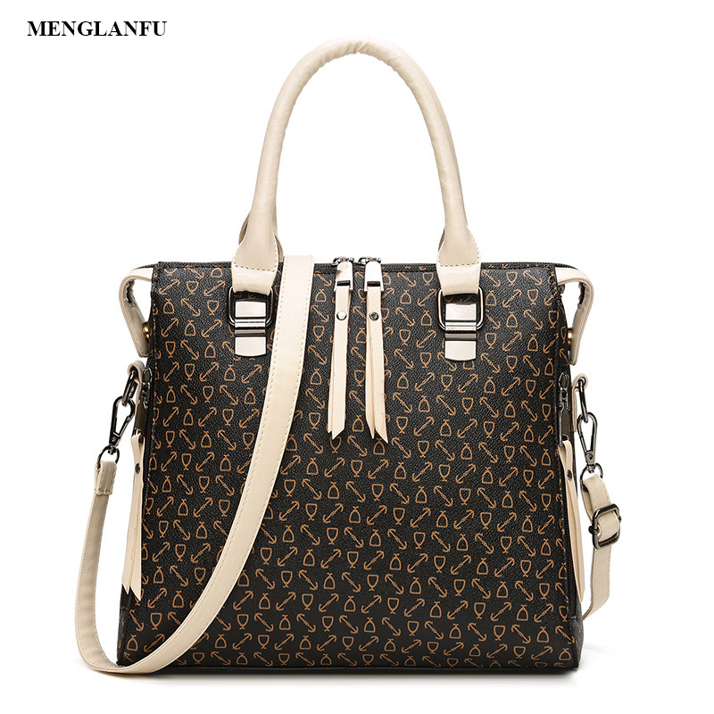 Women vintage print font b handbag b font shoulder bag Fashion ladies Zipper font b handbags