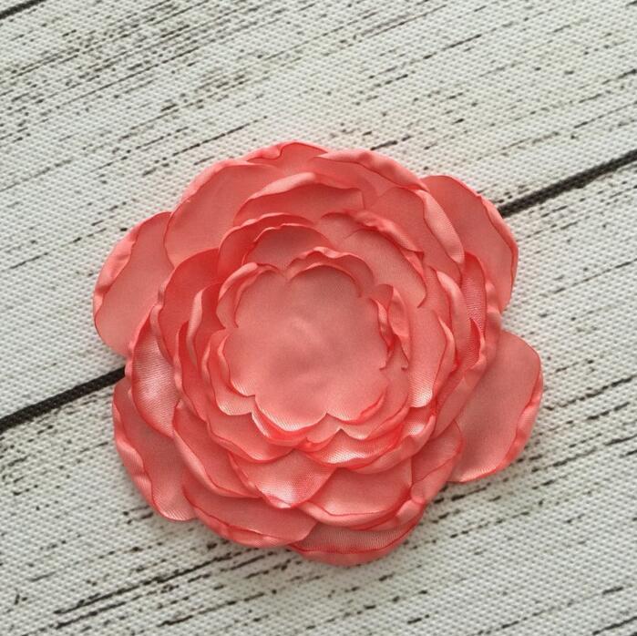100pcs Satin Singed Burning Rose Flower
