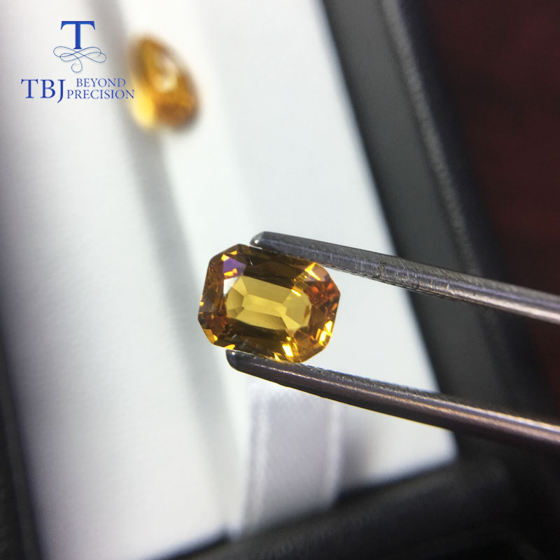Image 5 - Tbj ,natural heated yellow sapphire 1ct up good quality slight inclusion gemstone for diy gold jewelry-in Rings from Jewelry & Accessories