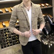 2016 Повседневное Блейзер Для мужчин модные костюмы мужской кнопка пальто костюм Для мужчин casul куртка Большие размеры M-3xl Бесплатная доставка