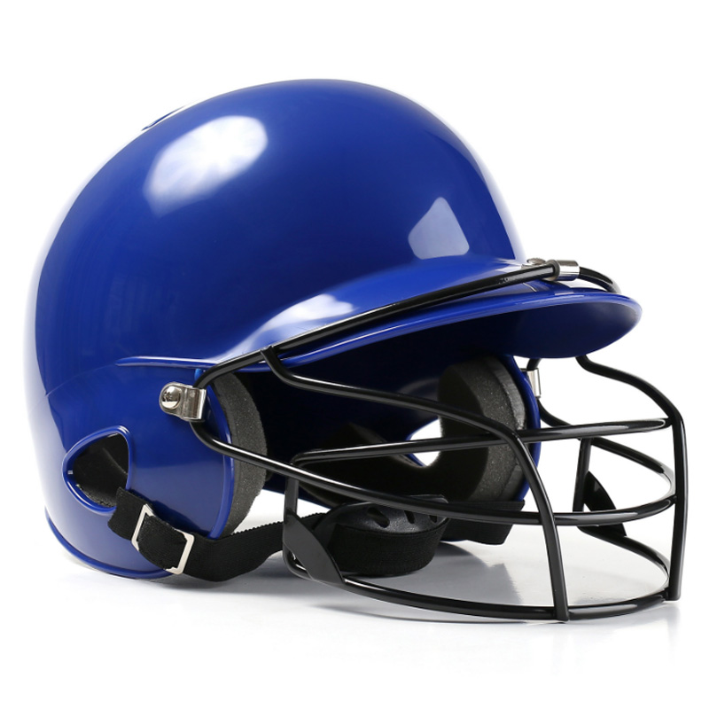 TOP!-Baseball Helmet Hit Helmet Binaural Baseball Helmet Wear Mask Shield Head Protector Face Softball Fitness Body Fitness Eq
