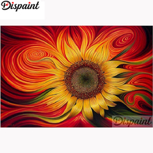 Dispaint Full Square/Round Drill 5D DIY Diamond Painting Sunflower flower Embroidery Cross Stitch Home Decor A10371