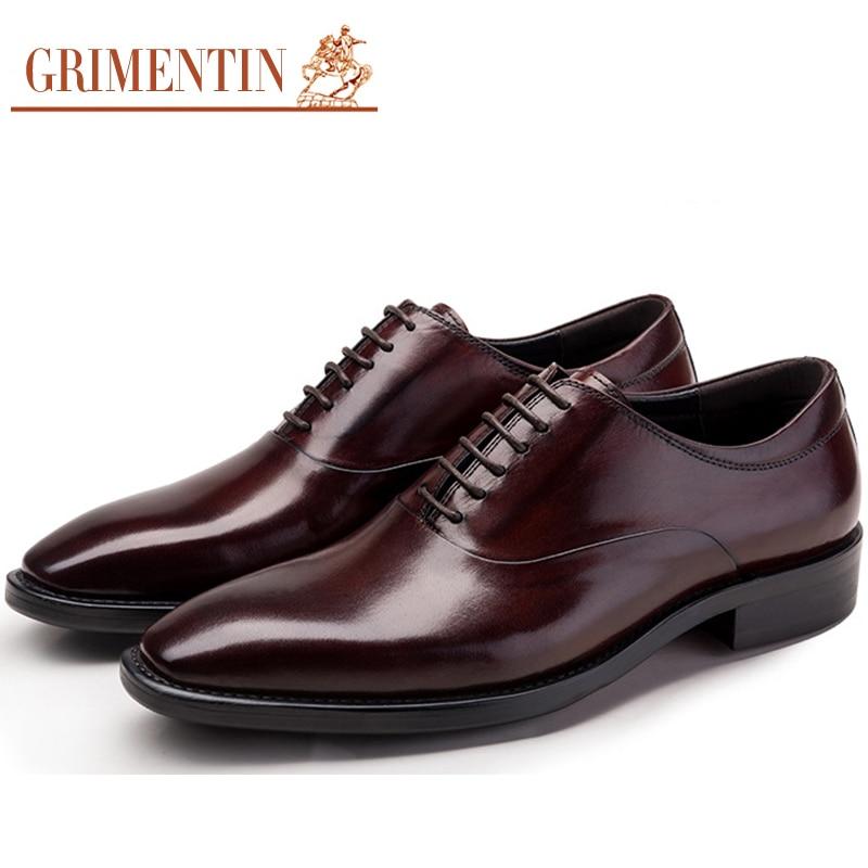 Men Shoes Leather Genuine Italian Designer Pointed Toe ...