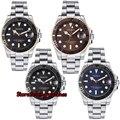 17 Новое поступление Брендовые повседневные мужские часы Parnis 21 Jewels miyota Movement 50m Водонепроницаемые Мужские механические часы для плавания